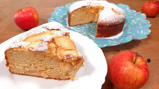 LAZY Sweetened Condensed Mİlk Cake with Apples Recipe - Easy Baking