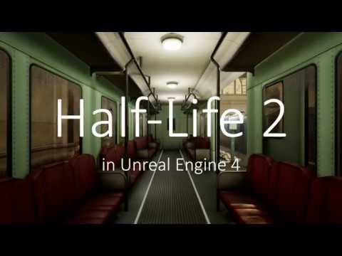 Gameplay of Half-Life 2 in Unreal Engine 4