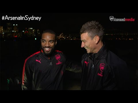 MUST SEE | Koscielny interviews Lacazette | Arsenal Tour 2017