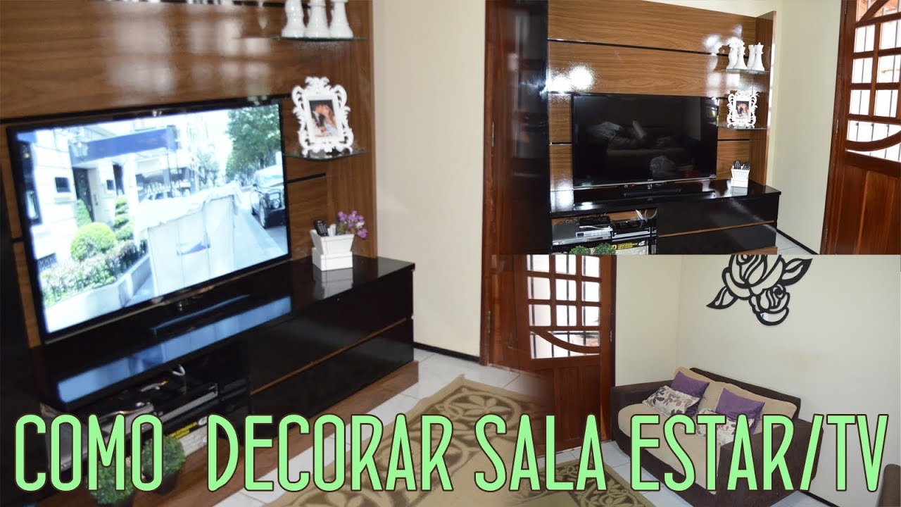 Como Organizar Sala De Tv ~ Como Decorar Sala de Estar e Tv  Por Ursula Andress (#