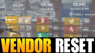 THE DIVISION - DECENT VENDOR RESET | GOD ROLL WEAPONS, GEAR & GEAR ...