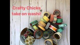 Scrapbook Layout: Crafty Chicks Take on Washi Tape