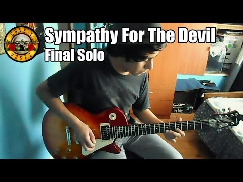 Guns N' Roses Sympathy For The Devil Solo (Try!)