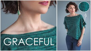 Easy Graceful Top - How to Crochet Cables! WOOO HOO!