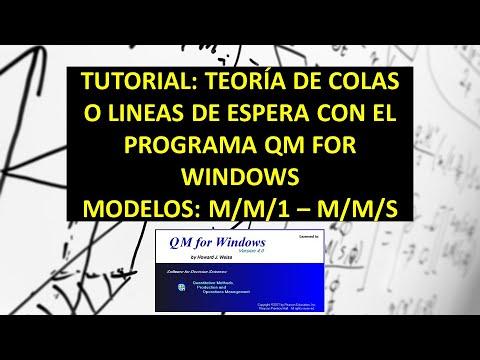 TUTORIAL EN QM FOR WINDOWS MODELOS DE COLAS MM1 Y MMS