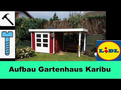 diy gartenhaus aufbau im schweden look von lidl youtube. Black Bedroom Furniture Sets. Home Design Ideas