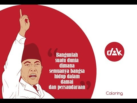 Adobe Illustrator Tutorial - Speed Coloring Soekarno