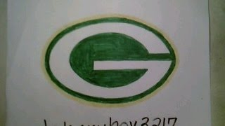 How to Draw Green Bay Packers Logo Sign Easy Step By Step Tutorial challenge