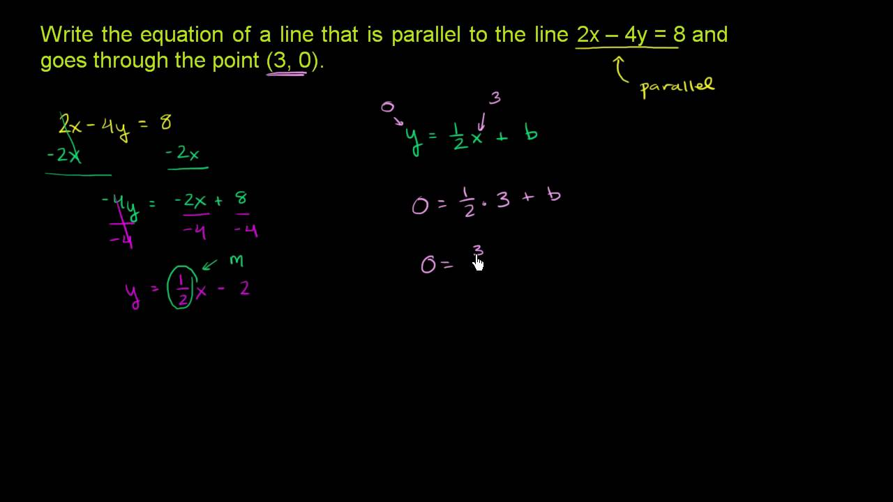 writing equations of parallel and perpendicular lines