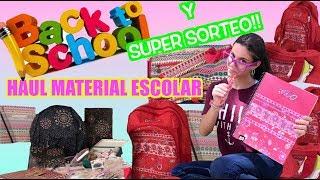 VUELTA AL COLE Y SUPER SORTEO DE MATERIAL ESCOLAR/LA DIVERSION DE MARTINA/HAUL ESOLAR