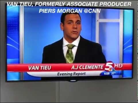 KFYR News Anchor AJ Swears North Dakota - Van Tieu Fmr AP Piers Morgan Tonight CNN