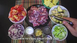 Greek Lamb & Vegetable Stew Recipe - Slow cook or Pressure cooker