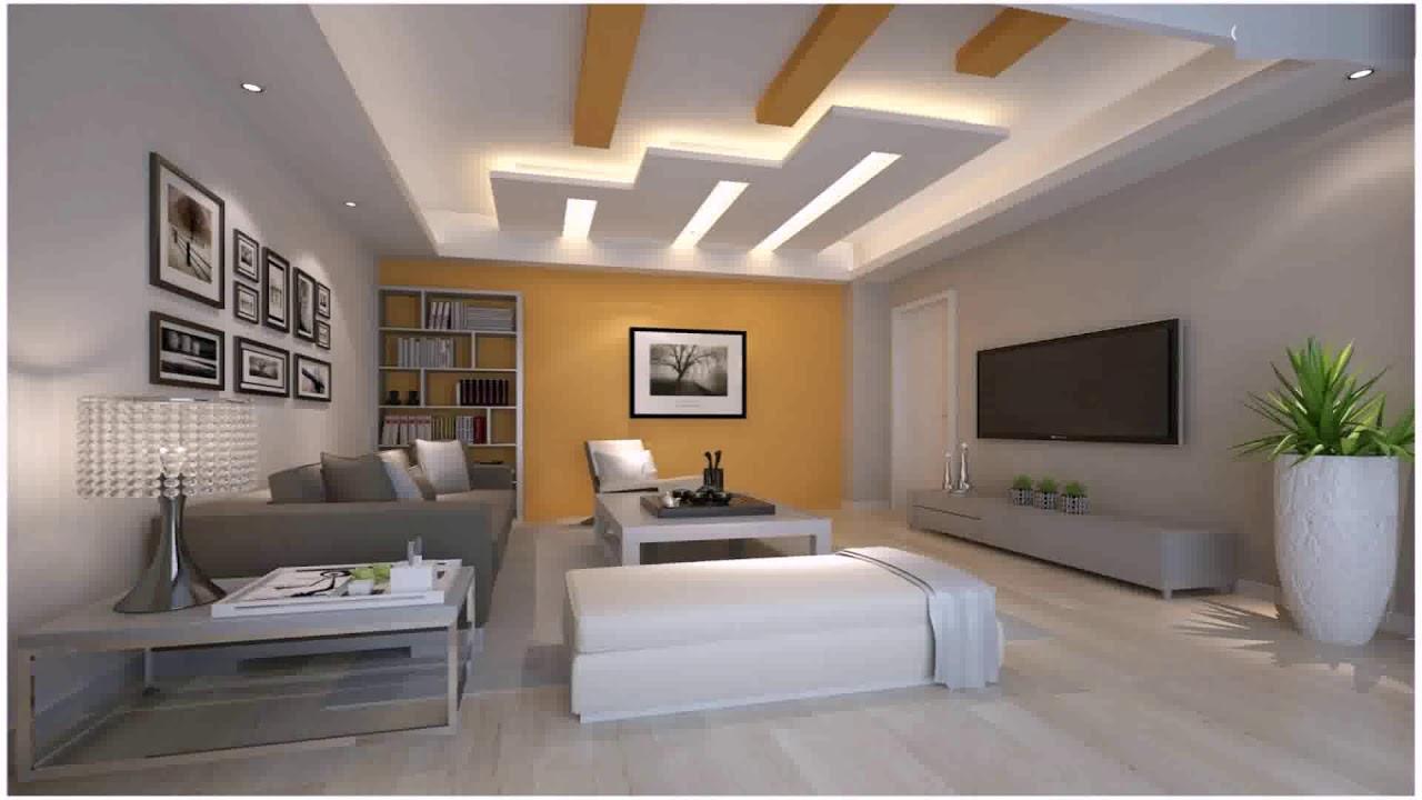 Rectangle Shaped Living Room Pop Design - YouTube
