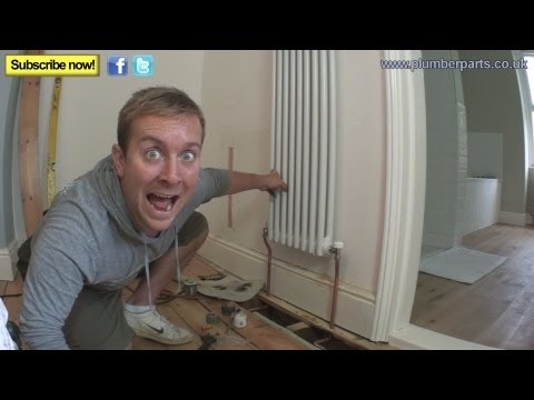 How To Install A Column Radiator Plumbing Tips Youtube