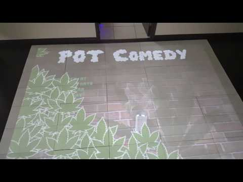 Richtech Interactive Floor Demo - Pot Comedy Club
