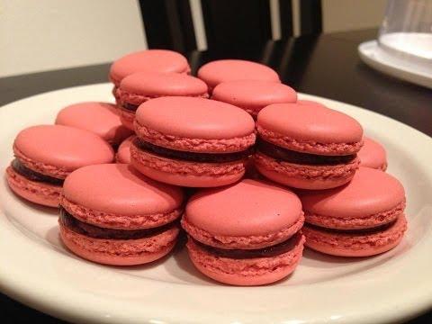 วิธีทํา มาการอง Hello my pink macarons