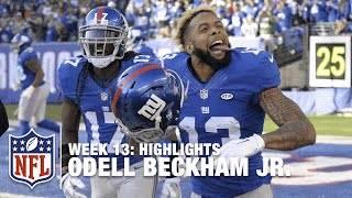 Odell Beckham Jr.'s Record-Breaking Day! (Week 13) | Jets vs. Giants | NFL