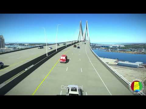A Drive Across the New Mobile River Bridge