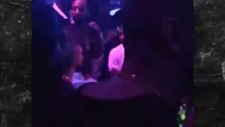Rihanna all over Drake in Miami at club Eleven