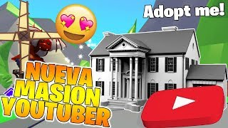 Meine NEUE YOUTUBE MANSION in Adopt Me Roblox! 🏠