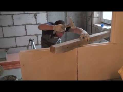 ПГП, перегородки из пазогребневых блоков, монтаж и стыкование блоков с существующими стенами