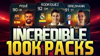 FIFA 15 IOS - 3 x 90+ Rated TOTS In A Row!! (Uncut 100k Packs)!!