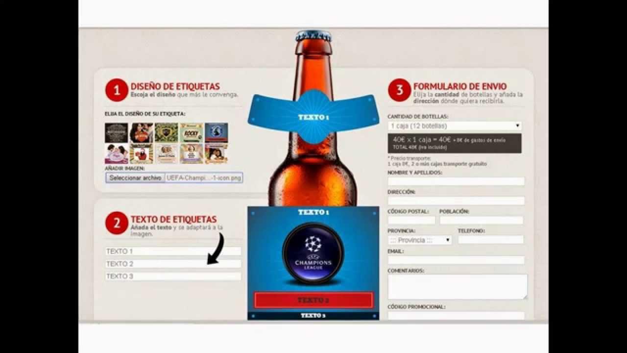 Personalizar etiquetas de cerveza desde www.mibotella.es - YouTube