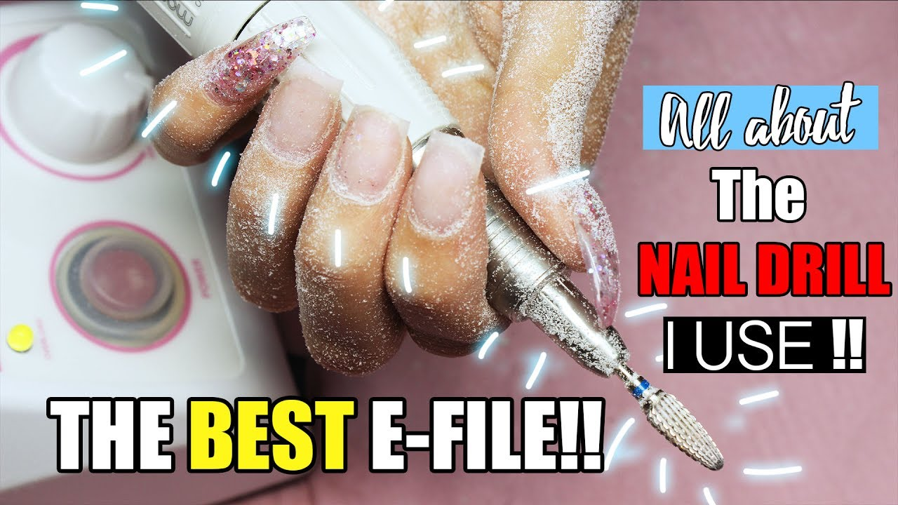 PROFESSIONAL NAIL DRILL // E FILE // ALL ABOUT THE ONE I USE - YouTube