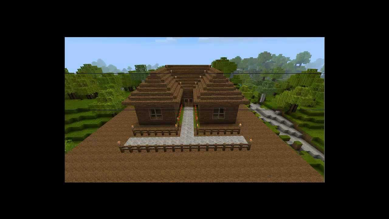 minecraft sch nes haus bauen in wenigen schritten. Black Bedroom Furniture Sets. Home Design Ideas