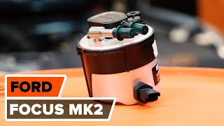 Como substituir a filtro de combustível FORD FOCUS MK2 Sedan [TUTORIAL AUTODOC]