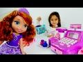 #Kızoyunları Çizgi filmden Prenses Sofia ile market alışverişi. #Türkçeizle! Kız oyuncakları