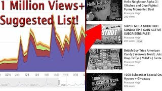 How To Get More Suggested Video Views! Recommended Video List Youtube Tips #2