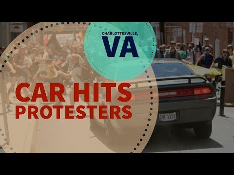 Car Hits Protesters Slow Motion Multi Views Charlottesville