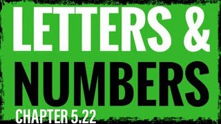 5.22 Numbers As Language 5-8 (Meaning and Spiritual Significance of Numbers)