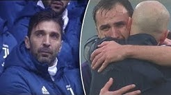►Buffon reaction during Davide Astori's tribute & Fiorentina players on the floor and in tears