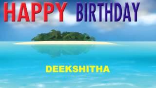 Deekshitha   Card Tarjeta - Happy Birthday