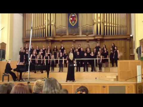 Derek Taylor Jr. High performs Like an Eagle at AMFA Provincial Choral Festival