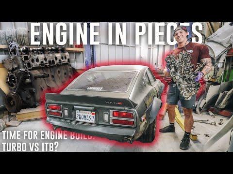 Datsun 280z Custom Engine Rebuild! L28 Engine Teardown | Rebuilding Datsun 280z Ep. 2