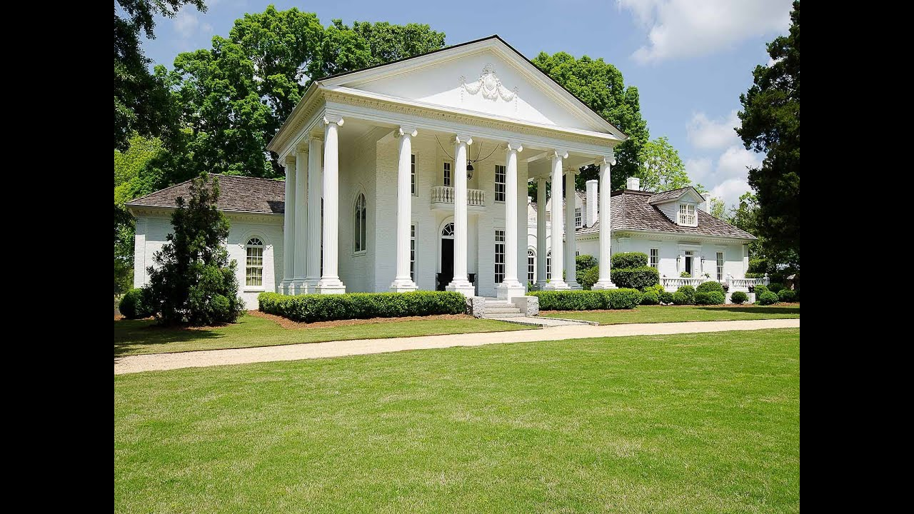 Historic mansion on 70 acres in madison ga 2911 clack Antebellum plantations for sale