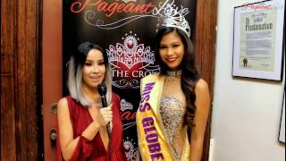 Miss Globe Mary Espiritu - PageantLive New York with Lisa Opie