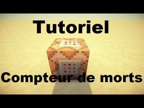 tuto les commands blocks compteur de morts 1 5 2 et youtube. Black Bedroom Furniture Sets. Home Design Ideas