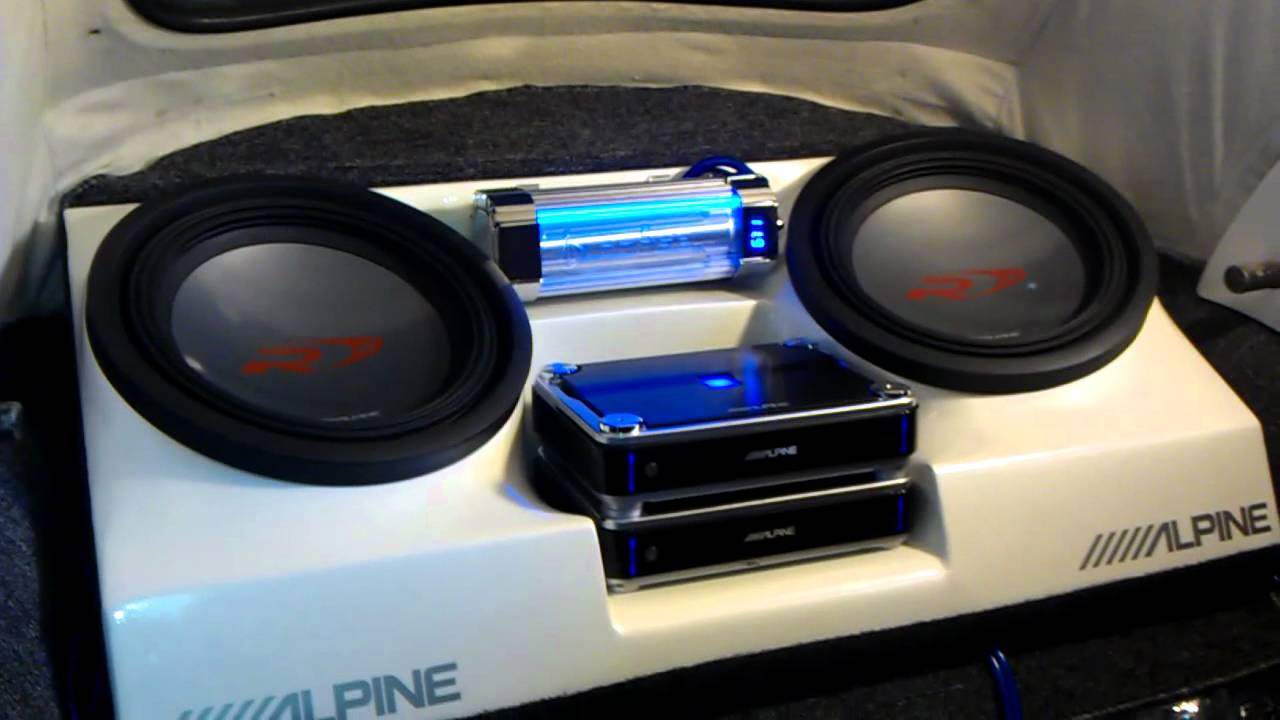 Classic VW Beetle Convertible Sub Box and two Alpine 12's, 4200W (RMS) (Young Jeezy, My Hood ...