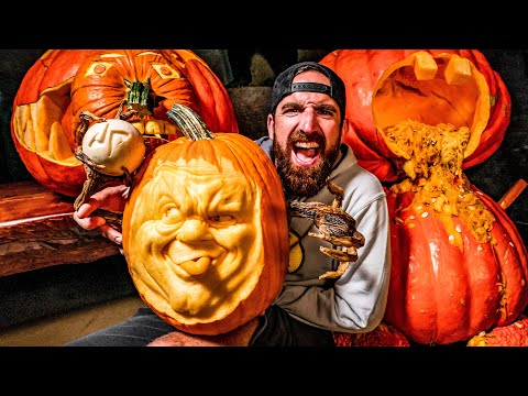 GIANT Pumpkin Carving Contest | OT 19 - Dude Perfect