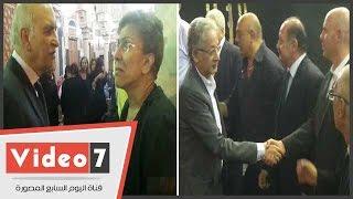كمال أبو عيطة و عبد اللة السناوى و فريدة الشوبا شى و محمد عبد القدوس بعزاء شاهندة مقلد