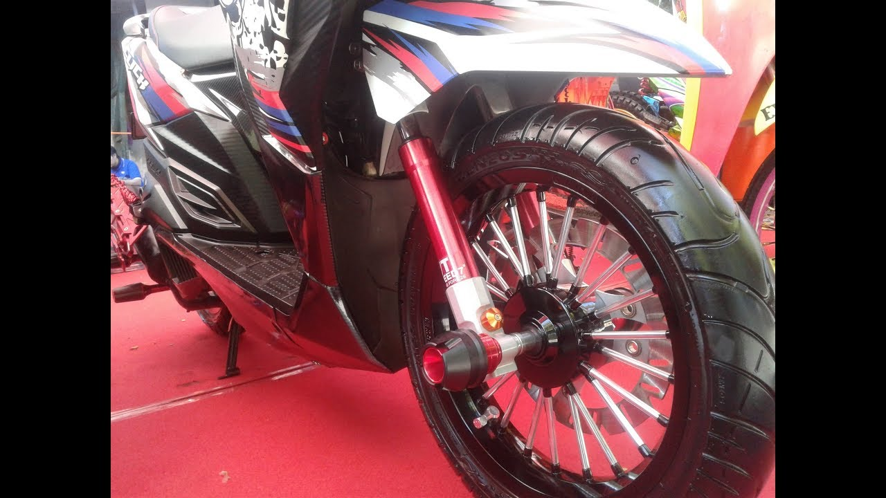 Modifikasi simple vario 150 full cutting sticker minimalis