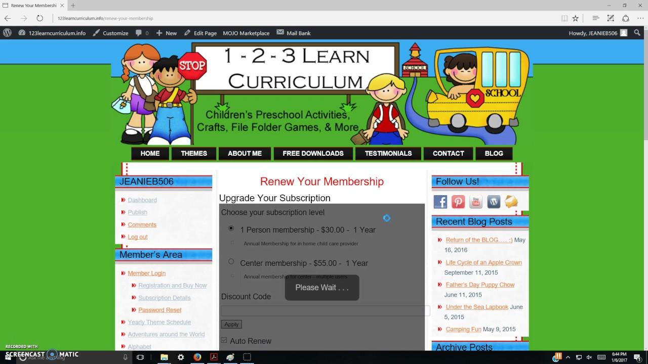 123 learn curriculum Checking Status of 123 Learn Curriculum Membership - YouTube