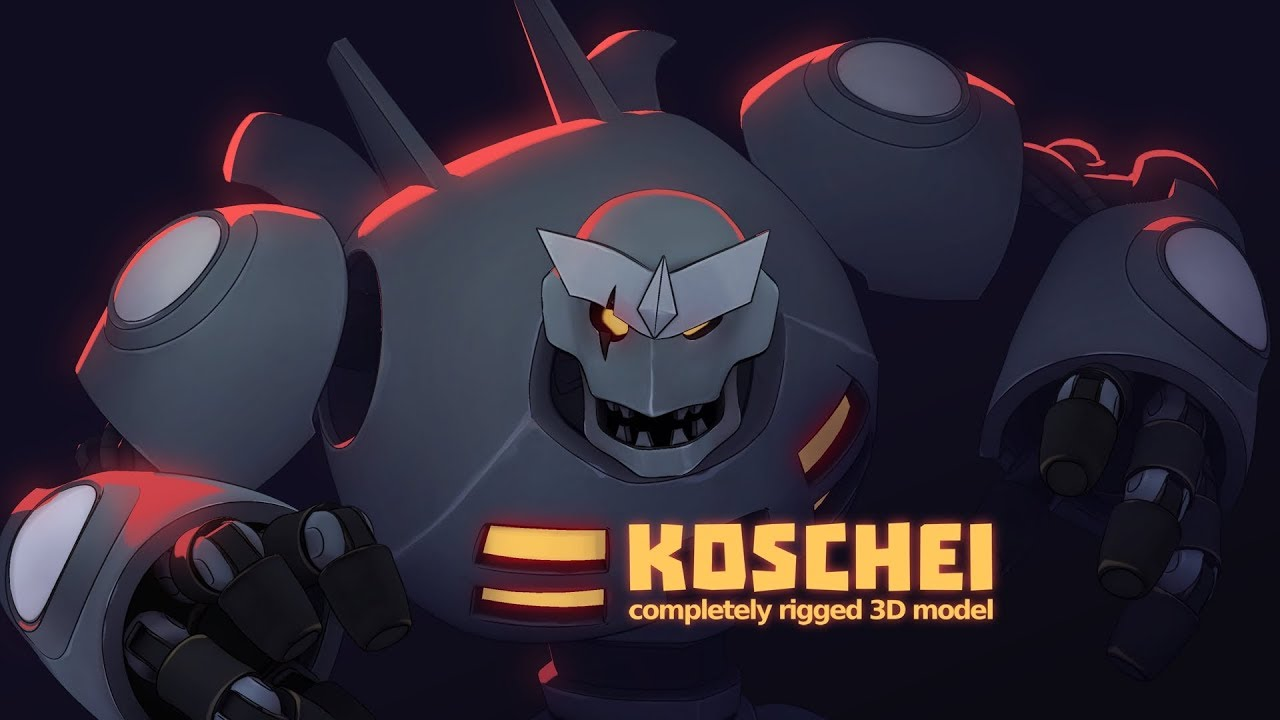 Koschei 3D Model is available for free download! - Morevna Project