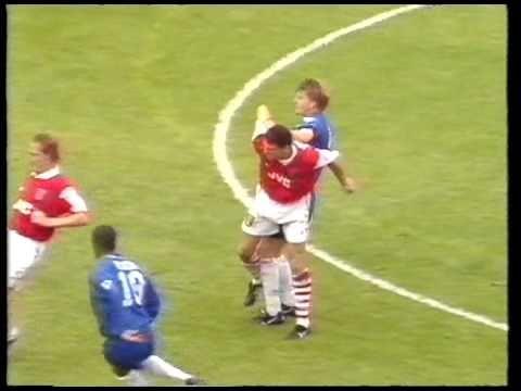95/96 Chelsea v Arsenal - Spackman whacks Keown