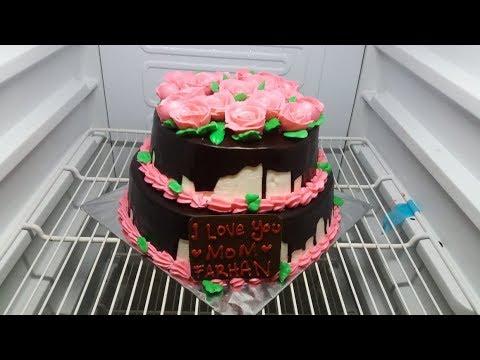 Cara Menghias Kue Ulang Tahun Bunga Mawar Simpel