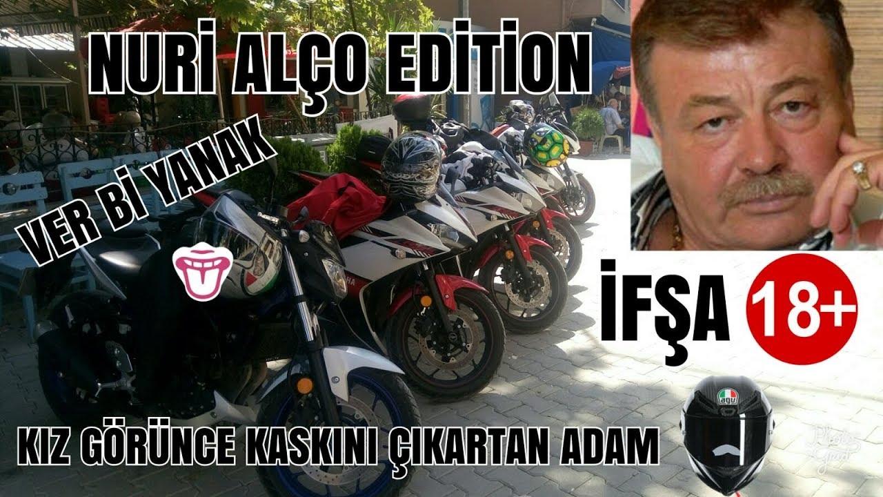 KIZ GÖRÜNCE KASKI ÇIKARTAN ADAM  İFŞA +18 NURİ ALÇO EDİTİON VER Bİ YANAK PARALI YOL MR EKER MOTOVLOG